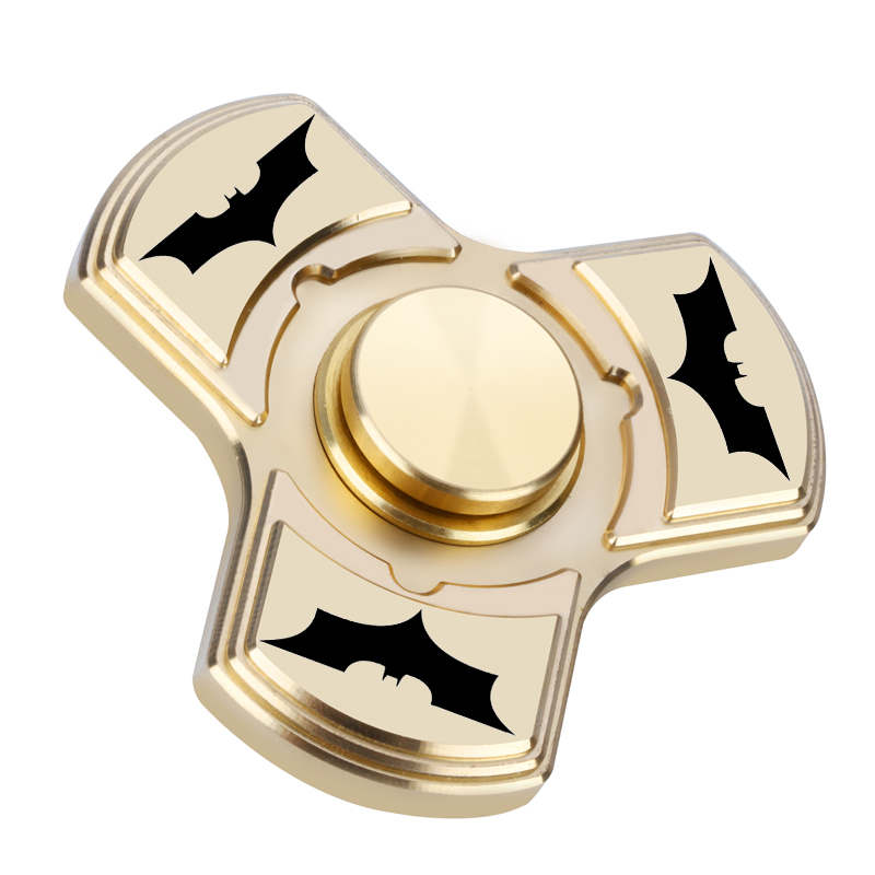 Batman Tri Spinner Fidget Toy Plastic EDC Hand Spinner For Autism and ADHD Bat Shape Fidget