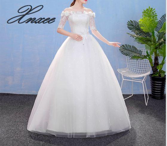 2019 new white Qidi one shoulder dress Slim was thin