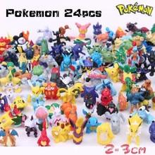 Wholesale 24 pcs/lot 2-3CM Pokemon Mini Random Pearl Action Figures Puppets Pokemon Toys For Kids Children Gashapon toys Gifts