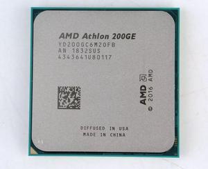 AMD Athlon 200GE X2 200GE 3.2GHz Dual-Core Quad-Thread CPU Processor YD200GC6M2OFB Socket AM4