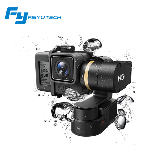 FeiyuTech Newest WG2 Wearable 3-axis Waterproof Gimbal Stabilizer for Gopro 4/5/session YI 4K/SJCAM/AEE Action Camera Hot