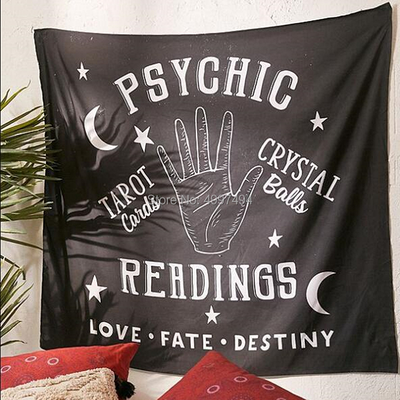 Ouija Loartee Psíquica Tapeçaria de Bruxaria Magia Destino Destino Adivinhação Astrologia Wandkleed Cabeceira Da Parede Pano de Fundo Decoração