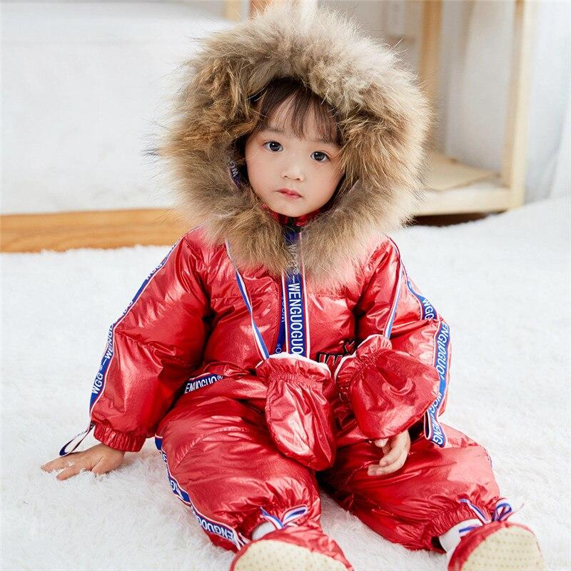 Newborn Snowsuit Baby Snow Coveralls Infant Fleece Jumpsuit Girls Outerwear Romper Girl Floral Winter Jacket Princess Hoodie side slit fleece drop shoulder pullover hoodie