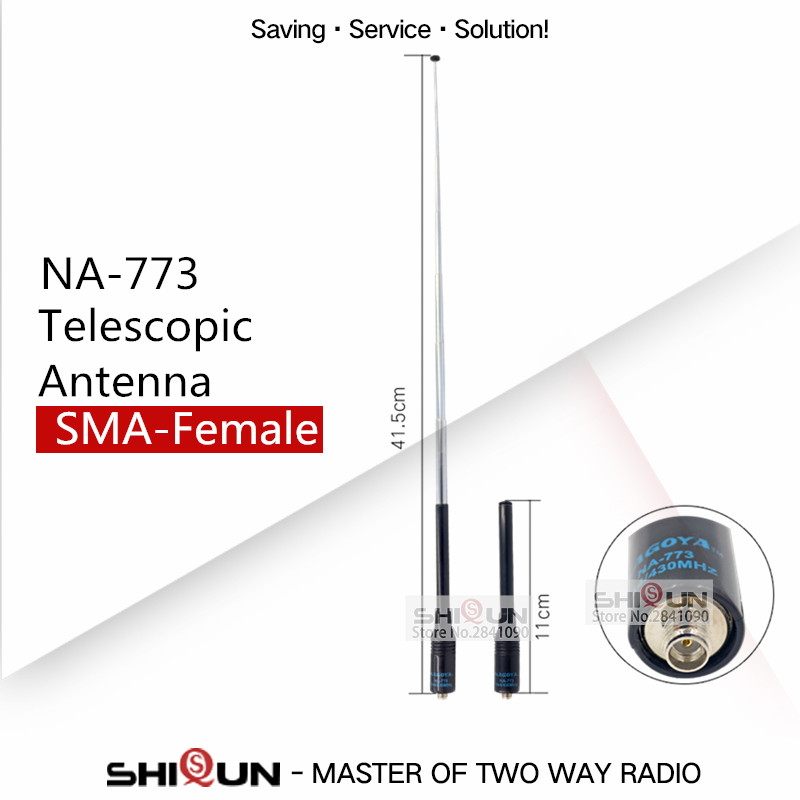 Flexible Nagoya NA-773 SMA Female Walkie Talkie Antenna For BaoFeng UV-5R UV-82 BF-888S UV-XR UV-9R Dual Band VHF UHF Antenna