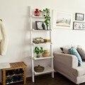 SoBuy FRG17 Moderne Leiter Regal aus Holz mit Fünf Etagen  stand regal-in Bücherregale aus Möbel bei