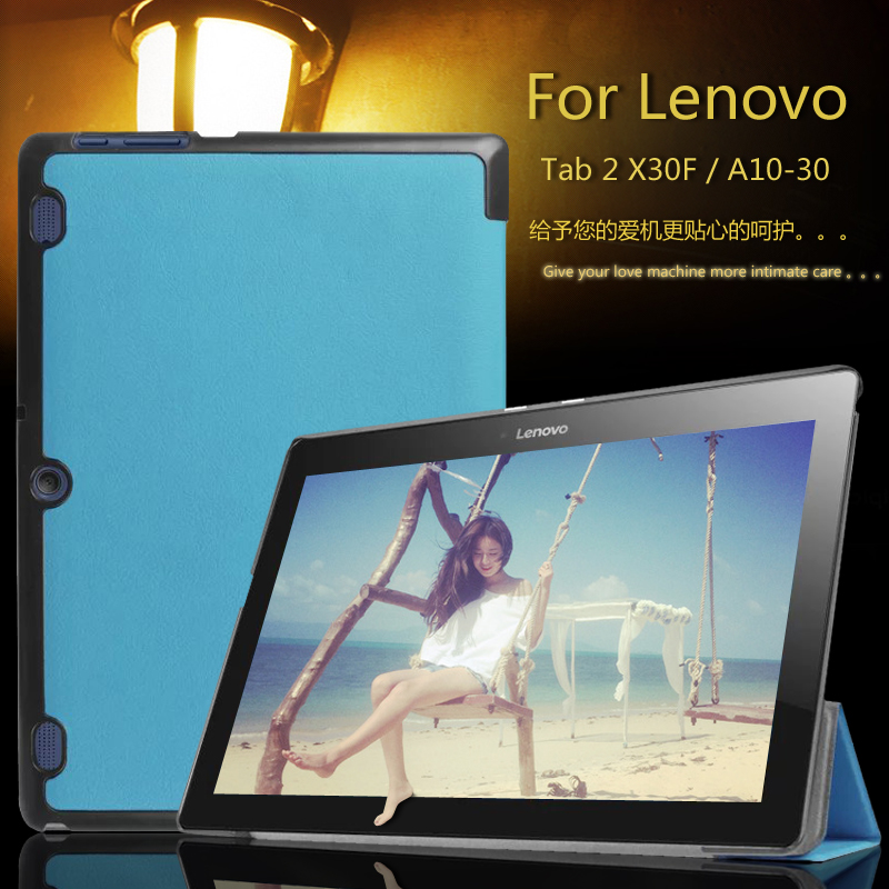 Leather cover case funda For Lenovo Tab 2 A10-70F/L A10-30 X30F/M Tab 3 X70 X70F X70M Ta ...