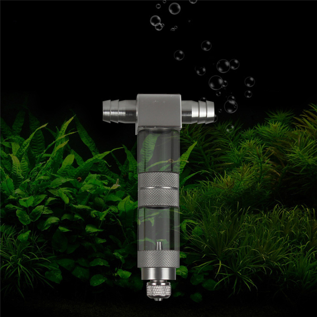 Aluminum Alloy 12/16mm External U-Tubes Bend CO2 Diffuser Aquarium Tank Carbon Dioxide Atomizer Regulator Reactor Newest