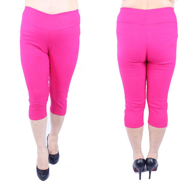 2016 New spring Women cropped leggings Candy Colors Surper Stretch Slimming Leggins Fitness  Comfortable Pants PlusSize 4XL 5XL
