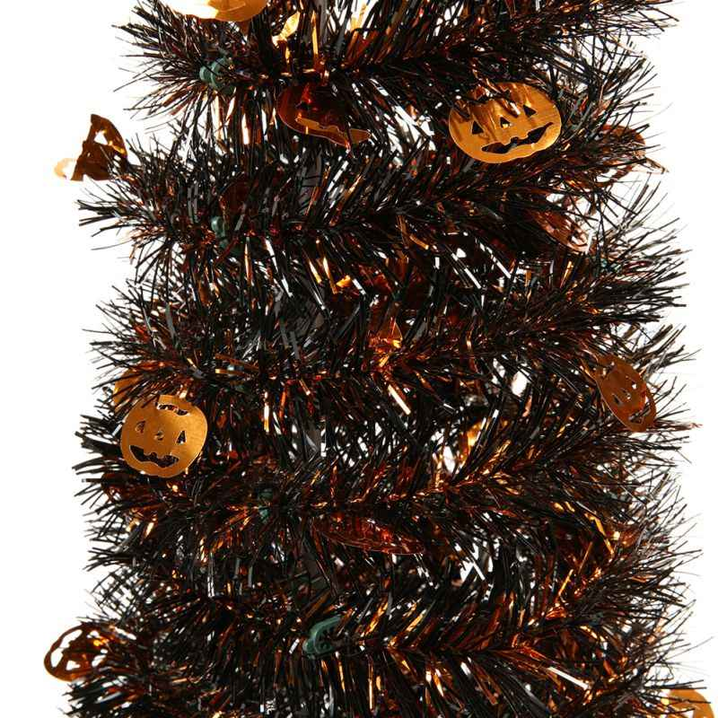 Portable Halloween Christmas Tree Easy-Assembly Collapsible Tower-Shaped  Christmas Tree Tinsel Coastal Christmas Tree Decoration