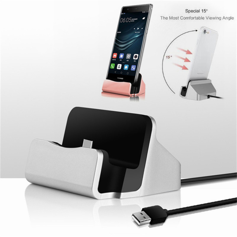 For IPhone Charging Dock Station Desk Mobile Support Charger For Mobile Phone Holder For Android Xiaomi Type C Stand Table Base