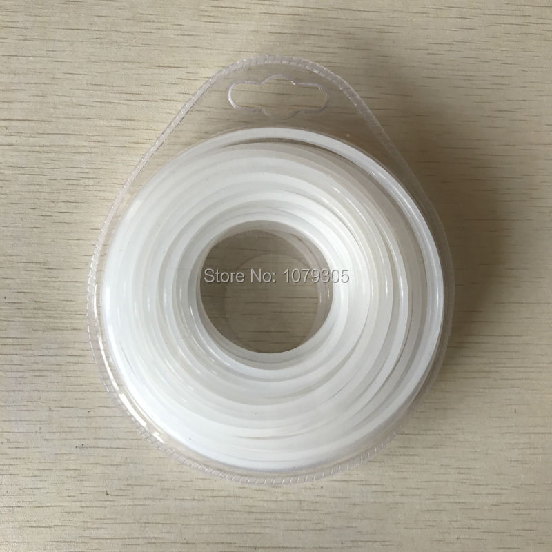 Garden machine grass trimmer rope brush cutter grass rope trimmer line 3.0*15M grass trimmer line 3 0mm diameter 500g round for brush cutter power nylon line grass cutting