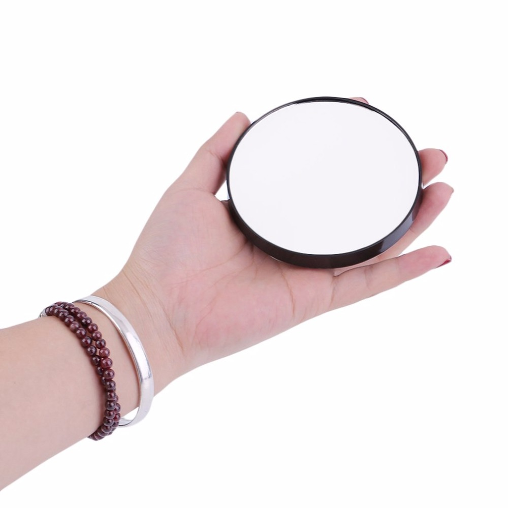 Fashion 10X Magnifying Glass Cosmetics Mirror With Suction Cups Women Beauty Makeup Mirror Great Make up Tool Gifts Black