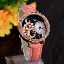 2015 el último estilo caliente diseño de línea única, de gama alta marca de relojes de lujo, relojes de cuarzo de moda, dama de la moda del reloj