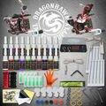 Kits Del Tatuaje Del principiante 2 Ametralladoras de 20 Conjuntos Pedal de Alimentación de la Aguja de Tinta Consejos D175GD