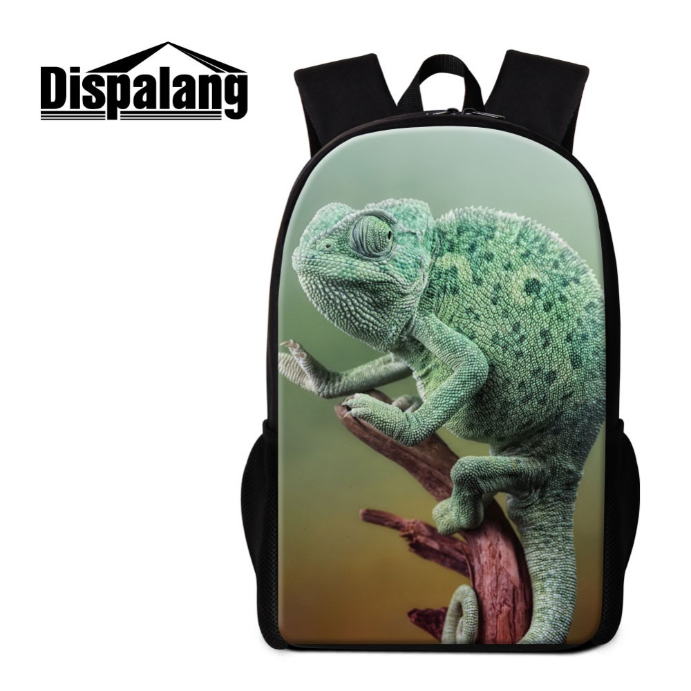 Dispalang School Bags For Teenagers Lizard Printing Men Women Backpack Mochila Feminina Casual Shoulder Bag Kids School Backpack