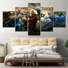 Wall Art Game Poster 5 Pieces DOTA 2 Printed Canvas Painting Pictures Modern Decorative On Decoration