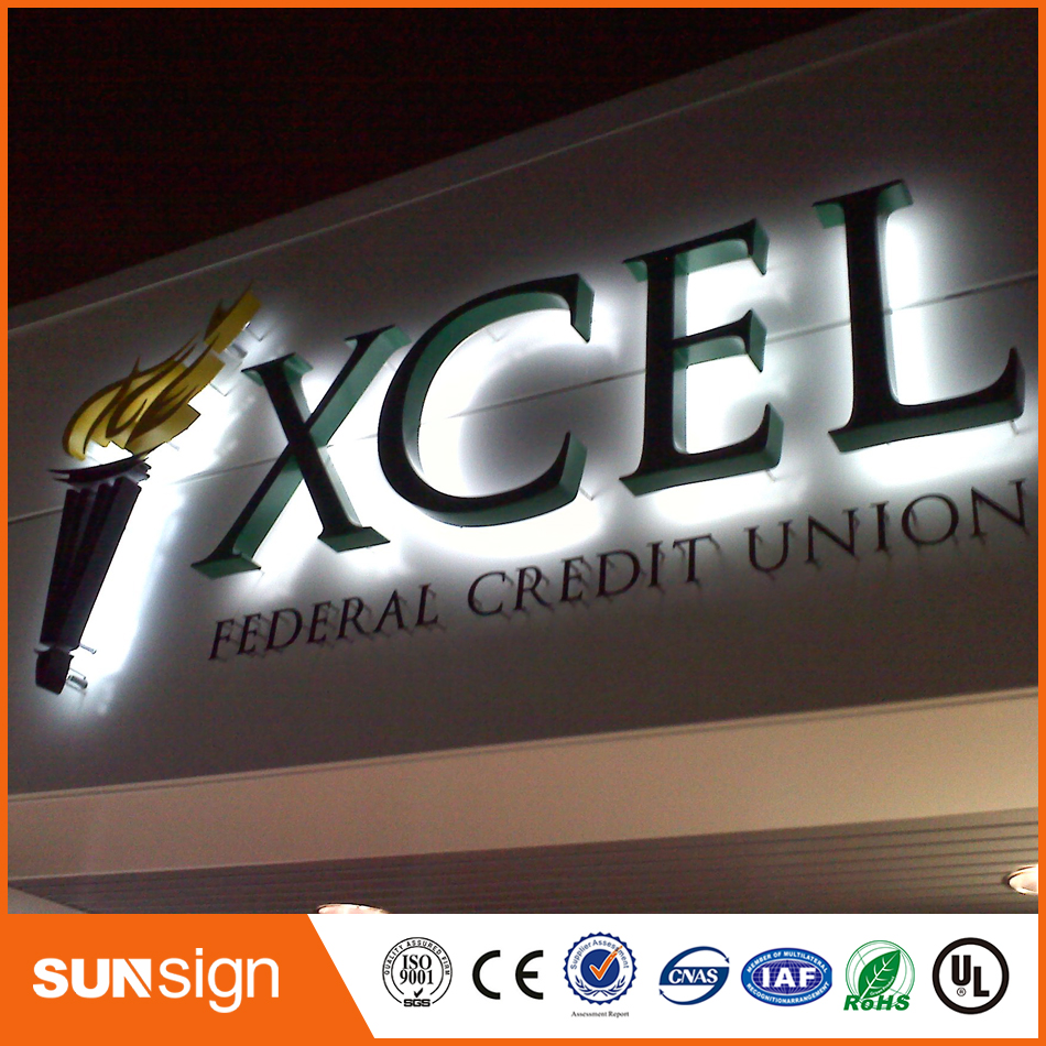 New Stainless Steel LED Backlit Letters Signs