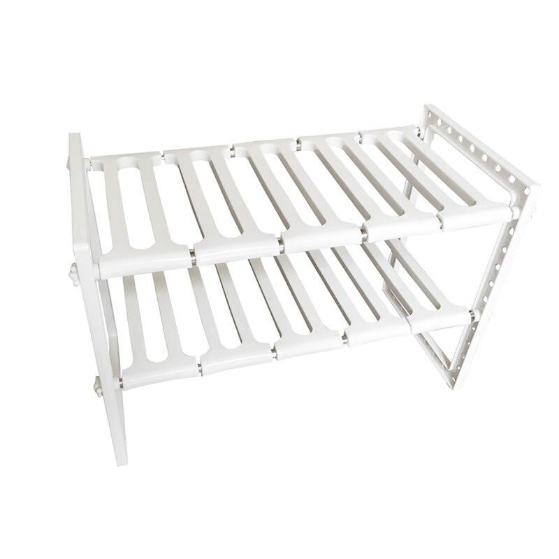 Multifonctionnel réglable rangement pour cuisine en acier inoxydable cuisine salle de bains stockage titulaire Double couche maison stockage Rack