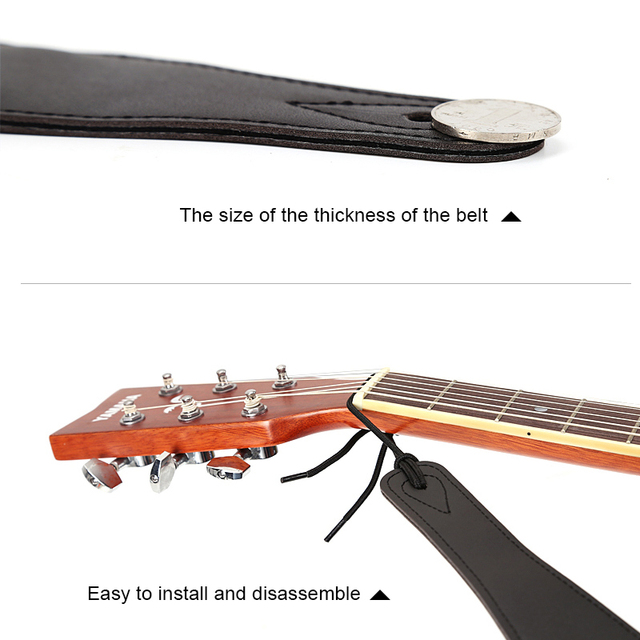 New Acoustic Electric Guitar Strap Leather End Width 5cm 2″Length 100-155cm fire design guitar strap electric bass ukulele sale