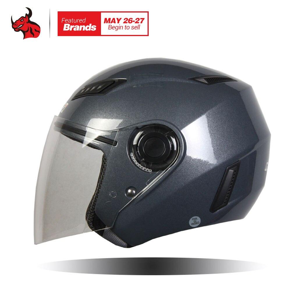 NENKI мотоциклетный шлем мотоциклетный скутер шлем мото открытым лицом Лето Половина шлем Мотор шлемы и прозрачные линзы