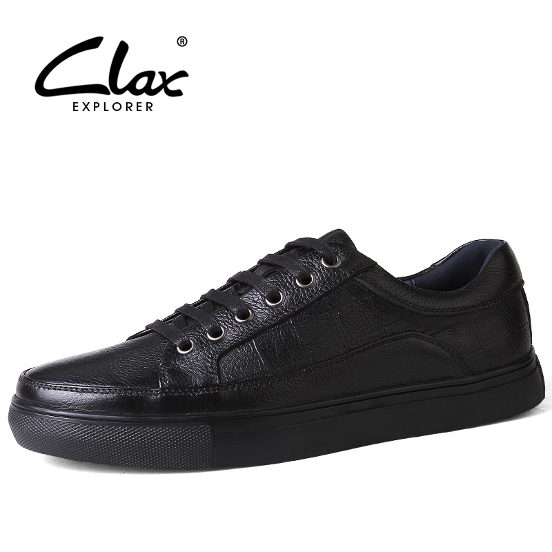 CLAX Men's Spring Shoes 2018 Autumn Men Casual Leisure Shoe Genuine Leather British Flats Designer Fashion Footwear Large Size grimentin fashion 2016 high top braid men casual shoes genuine leather designer luxury brand men shoe flats for leisure business