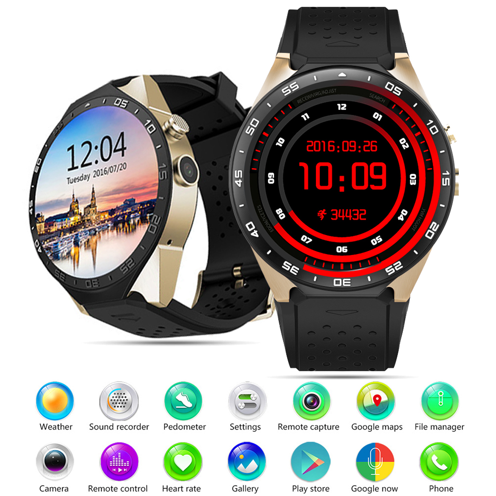 Aliexpress com : Buy Kingwear KW88 Better than KW18 3G WCDMA Smartwatch  Phone 1 39