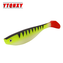 2pcs/lot Saltwater Fishing Lure Shad Soft Bait 140mm 25.7g Iscas Artificiais SwimBait Carp Fishing Tackle Silicone Baits WQ319