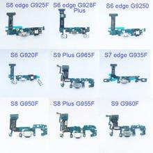 5 pièces connecteur de Dock Port de charge câble flexible pour Samsung Galaxy S6 edge S7 S7 edge S8 plus G955F S9 plus G965F câble flexible ruban