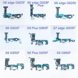 Image 1 - 5 stücke Dock Connector Aufladen Port Flex Kabel Für Samsung Galaxy S6 rand S7 S7 rand S8 plus G955F S9 plus G965F Flex Kabel Band