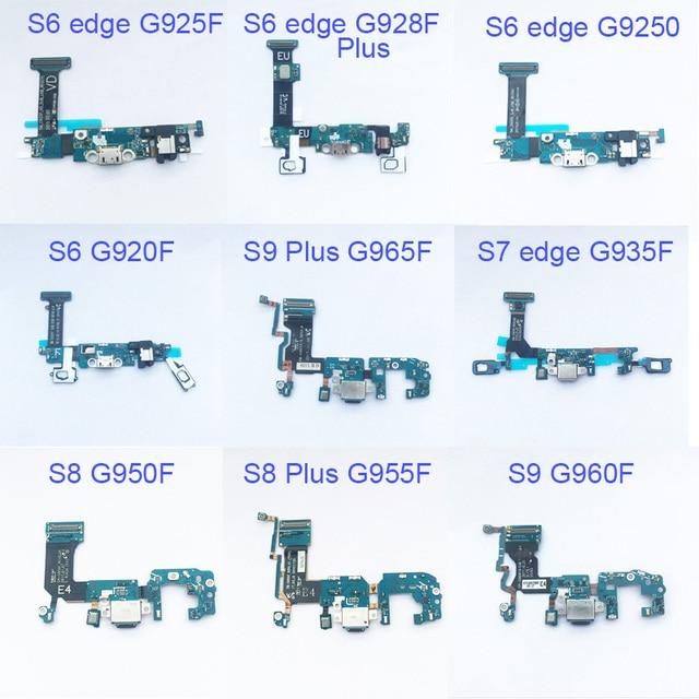 5 stücke Dock Connector Aufladen Port Flex Kabel Für Samsung Galaxy S6 rand S7 S7 rand S8 plus G955F S9 plus G965F Flex Kabel Band