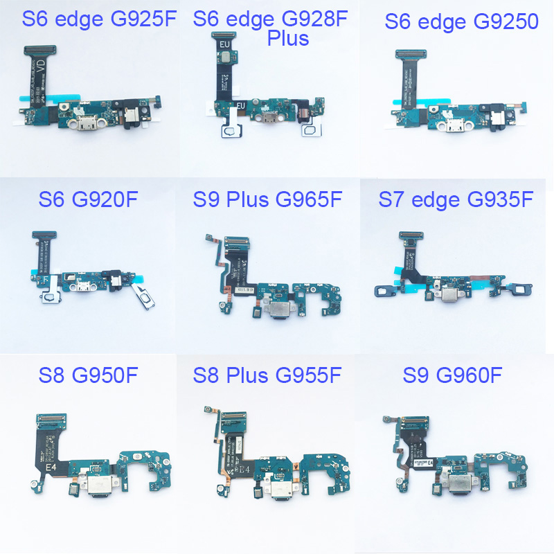 5pcs Dock Connector Charging Port Flex Cable For Samsung Galaxy S6 edge S7 S7 edge S8 plus G955F S9 plus G965F Flex Cable Ribbon-in Mobile Phone Flex Cables from Cellphones & Telecommunications on