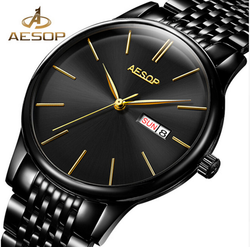 New AESOP Dress Watch Mens Automatic Mechanical Sapphire Crystal Wrist Wristwatch Stainless Steel Male Clock Relogio MasculinoNew AESOP Dress Watch Mens Automatic Mechanical Sapphire Crystal Wrist Wristwatch Stainless Steel Male Clock Relogio Masculino