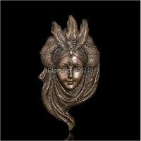 ATLIE абстрактный рельеф фигурка маска павлина стены бронзовая скульптура статуя библиотека стены книги по искусству Декор изделия из металл