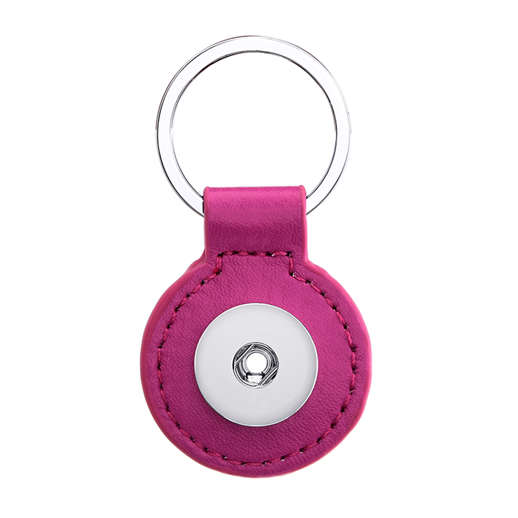 XH655 New PU snap button jewelry Keyring keychain key chain (fit 18mm 20mm snaps )
