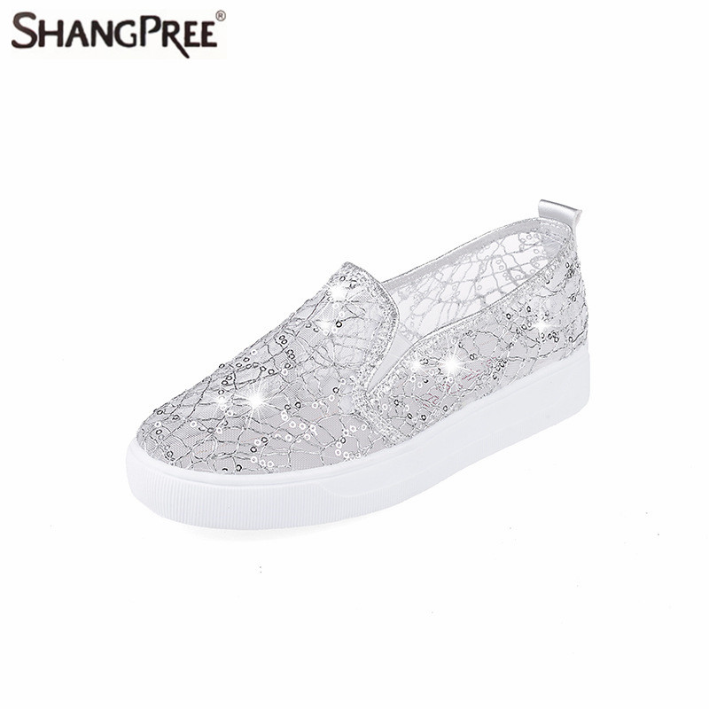 2017 New Fashion Summer Lace Rhinestones Women Flats Casual Cut Outs Shoes Hollow Floral Breathable Platform Platform Flat Shoes summer women shoes casual cutouts lace canvas shoes hollow floral breathable platform flat shoe sapato feminino lace sandals page 7