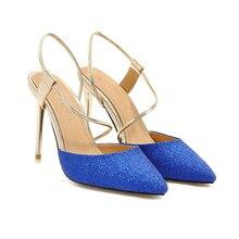 YANSHENGXIN Shiny Slingback Slip-On Womens Pointed Toe High Heels Woman Party Scarpin Stiletto Bridal Shoes Zapatos De Mujer