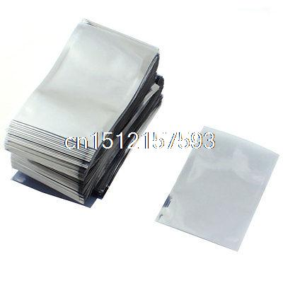 500 x Clear Gray Open Top Anti static Shielding Bags 8cmx12cm for PCB Board