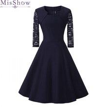 Nowa jesienna damska sukienka koktajlowa 2019 elegancka linia krótka granatowa pani sukienki koktajlowe Vintage krótka wyjściowa sukienka na studniówkę