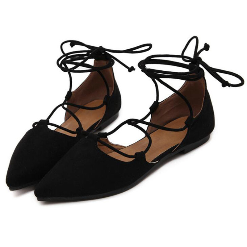 d25484278159 COVOYYAR 2019 Ankle Strap Women Ballet Flats Spring Summer Pointed Toe  Gladiator Ladies Shoes Cross Tied Casual Shoes WFS827-in Women s Flats from  Shoes on ...