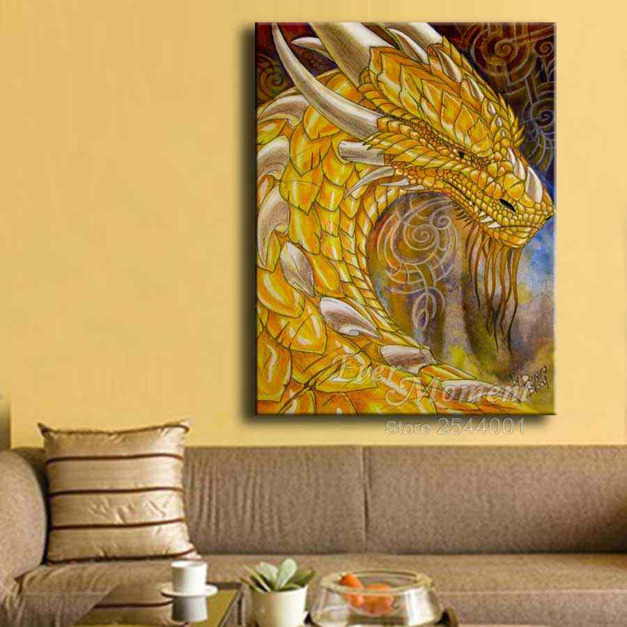 Pintura de diamante dragão imagens cabeça de dragão amarelo diamante bordado animais imagens pintura parede para decoração casa asf754