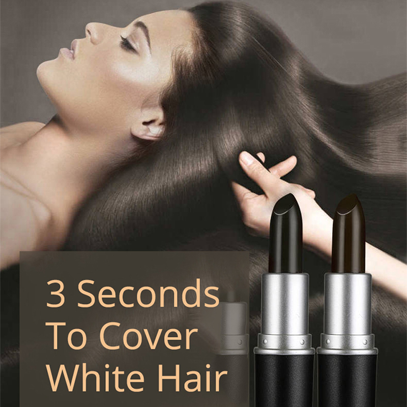 Brand VDW One Time Hair Dye Pen Black Brown Coverage Hair Color Modify Cream Stick Temporary Cover Up White Hair Lipstick Tools