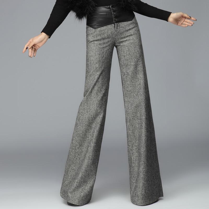 Popular Women Wide Legged Wool Pants-Buy Cheap Women Wide Legged ...