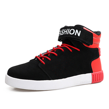 PU Leather Spring/autumn Men Front Lace-Up Casual Ankle Boots Martin Cowboy Men's Comfortable Zapatillas Deportivas Casual Shoes
