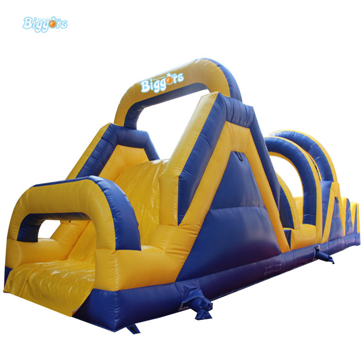 Free Sea Shipping Funny Inflatable Obstacle Course Run Game With Slide free sea shipping commercial obstacle course run races inflatables with air blowers for sale