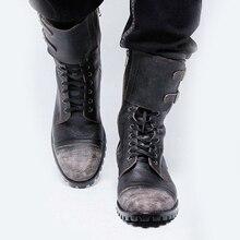Autumn Winter Shoes High Quality Men Boots Men Fashion Lace-up Boots PU Leather Male Botas NB272