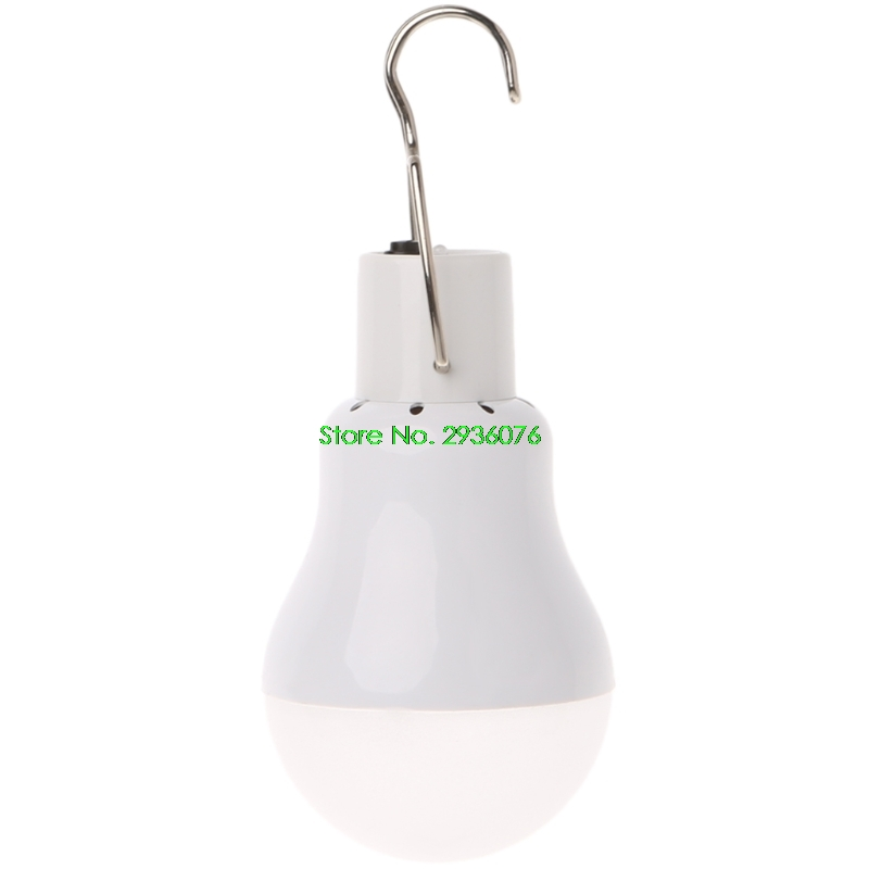 Portable Solar Panel Power LED Bulb Lamp Outdoor Camp Tent Fishing Light 15W