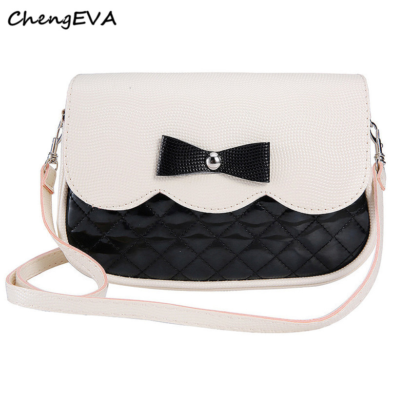 ChengEVA 1PC Bowknot Fashion Crossbody font b Bag b font Fashion Brand Hot Sale Attractive Elegant