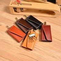 keychain wallet 2018 new style leather key chain vintage Genuine Leather key holder original key pouch key wallet holder