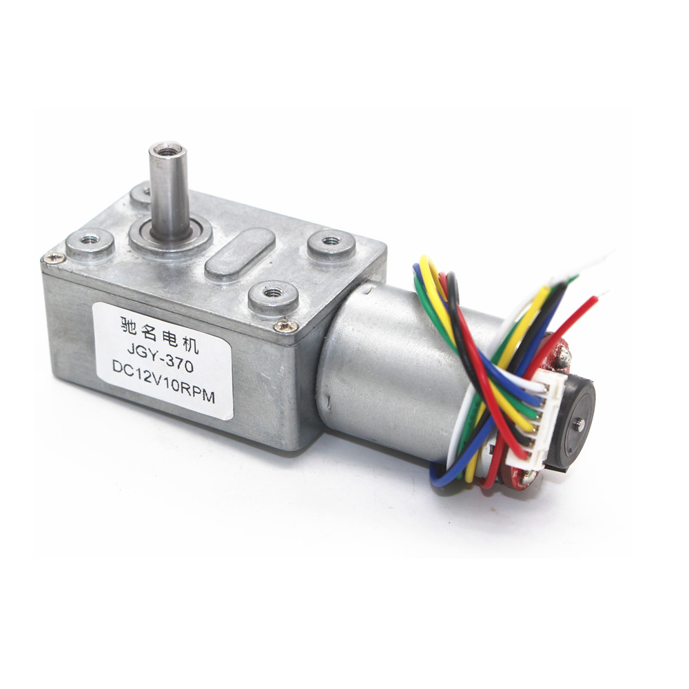 DC6V 12V 24V 2rpm to 150rpm Low Speed High Torque Full Metal Gearbox Encoder Turbo Worm Gear MotorDC6V 12V 24V 2rpm to 150rpm Low Speed High Torque Full Metal Gearbox Encoder Turbo Worm Gear Motor