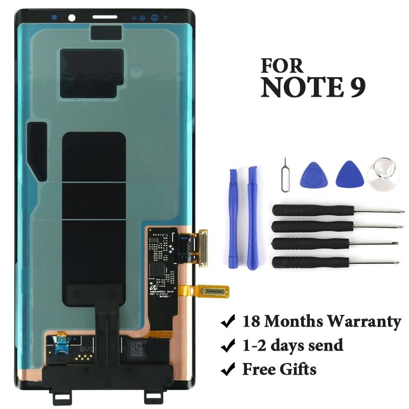 Pour Samsung Note 9 LCD qualité d'affichage OEM AMOLED avec numériseur avec cadre écran tactile assemblage pour Samsung N960 N960F N960D LCD